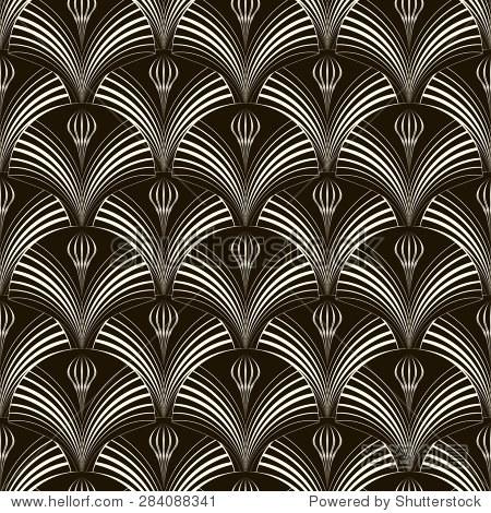 无缝模式与时尚元素,黑白纹理重复.现代装饰艺术打印.