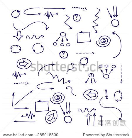 手绘简单箭头,矢量插图-商业/金融,符号/标志-站酷,,.