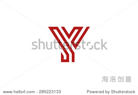 字母y標志矢量字母設計元素模板.美國廣播公司(abc)的
