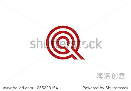 信问标志矢量字母设计元素模板.美国广播公司(abc)的.