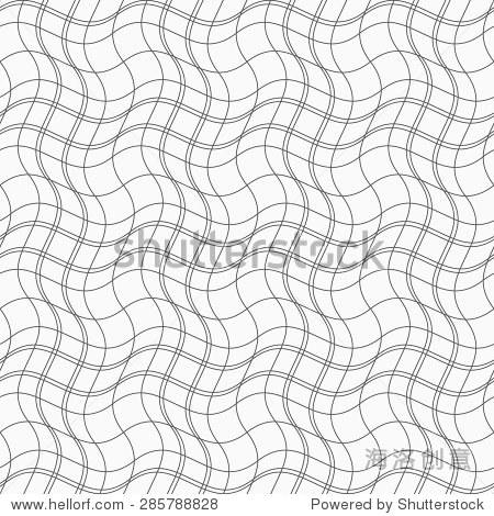 何图案 简单的黑白纹理 抽象的背景 苗条的灰色波浪线形成波浪广场