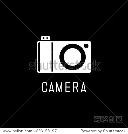 相机图标.矢量图