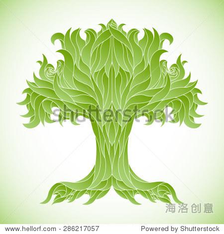 树矢量插图,设计元素