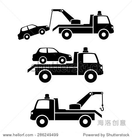 汽车牵引卡车icon.vector