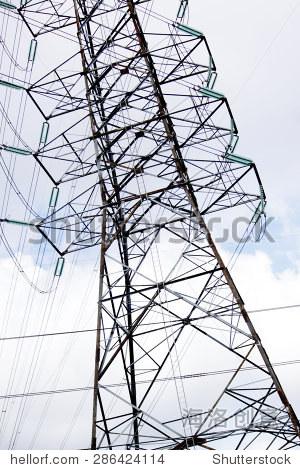 输电线路铁塔-建筑物/地标,背景/素材-海洛创意正版