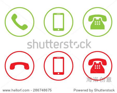 电话矢量图标
