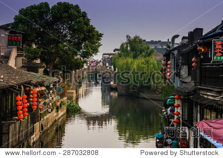 XITANG, CHINA - SEP 14: Xitang ancient town on Sep 14, 2013 , Xitang is first batch of Chinese historical and cultural town, located in Zhejiang Province, China.