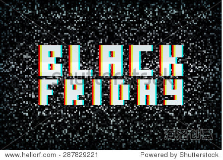 3d stereo effect black friday banner, sale announcement for