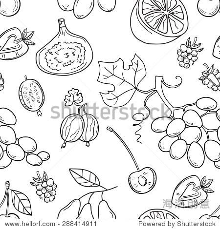 水果简笔画矢量图