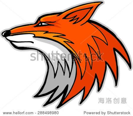 狐狸头吉祥物,矢量插图 - 艺术,抽象 - 站酷海洛创意