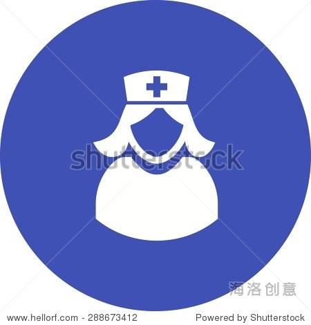 护士,女孩,女人,女医生图标矢量图.还可以用于医疗和医疗.