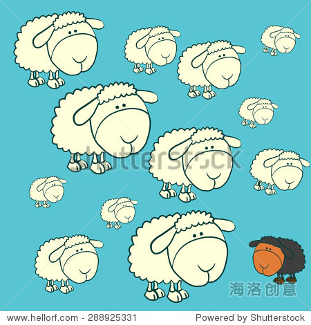 害群之马在白色的羊