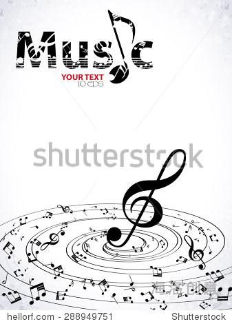 音乐.高音谱号和笔记为你设计