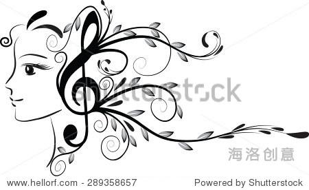 美和音乐注意设计-人物,符号/标志-海洛创意正版图片