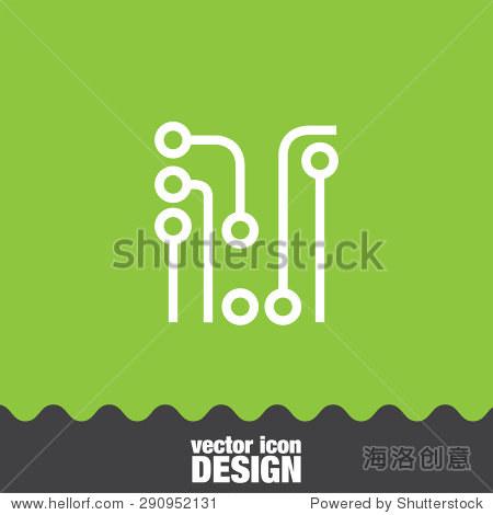 电路板矢量图标