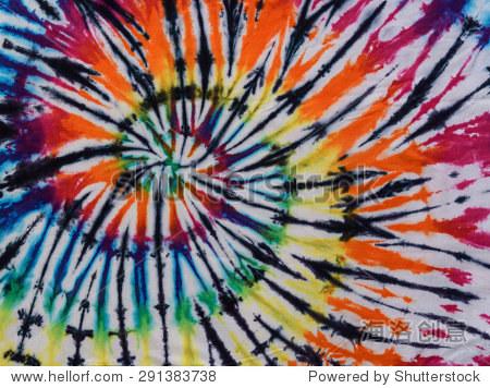彩色扎染漩涡图案设计