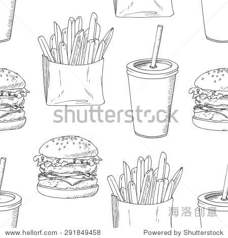 手绘食品背景.矢量图
