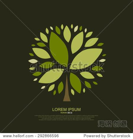 抽象的树叶组成
