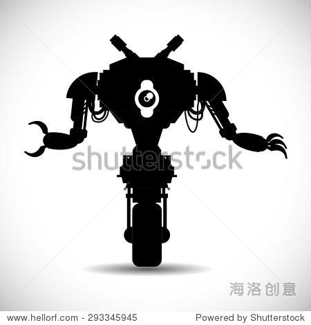 机器人数字设计,矢量图10 eps图形