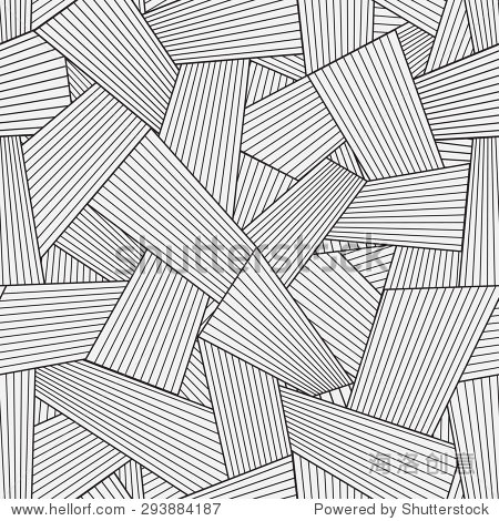 传统建筑手绘图形的孵化.简单的抽象装饰灰色说明覆盖的程式化的纹理
