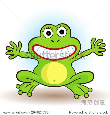 矢量图的可爱的小青蛙.