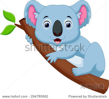 卡通可爱的考拉在树上 - 动物/野生生物 - 站酷海洛