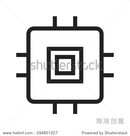 芯片,集成电路,电路图标矢量图.还可以用于计算机硬件