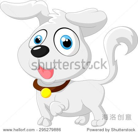 可爱的卡通狗宝宝摆姿势 - 动物/野生生物,物体 - ,,.