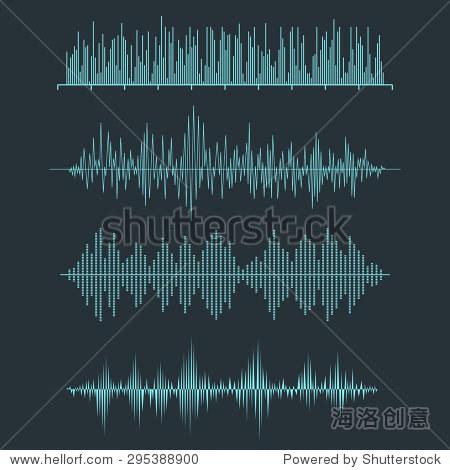 音频均衡器技术,脉冲的音乐.矢量图