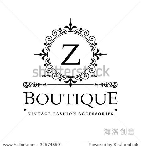 beautiful boutique logo designs business sign restaurant图片