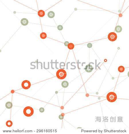 网络文摘技术连接三角形背景