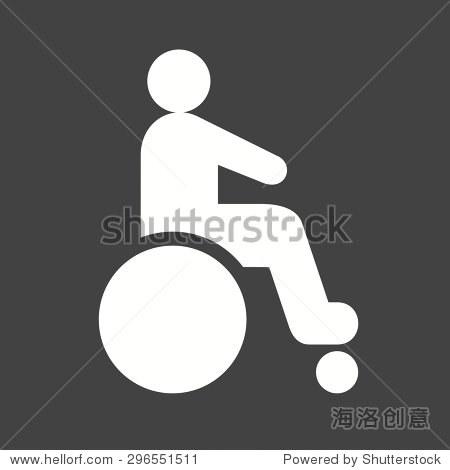 残疾人,麻痹图标矢量图.还可以用于医疗和医疗