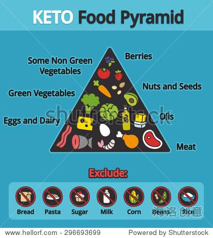 生酮饮食的营养信息图:食物金字塔图