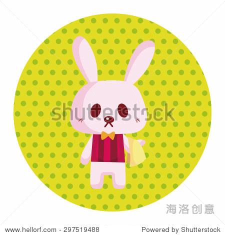 动物兔子夏天卡通主题元素