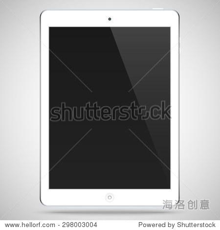 真实详细的白色与黑色触摸屏平板电脑ipad风格孤立在一个灰色背景 矢量插图eps10 物体,科技 站酷海洛创意正版图片,视频,音乐素材交易平台 Shutterstock中国独家合作伙伴