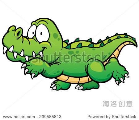 矢量图的卡通鳄鱼-动物/野生生物,自然-站酷海洛创意