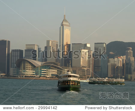 The Star Ferry in Victoria Harbor, Hong Kong
