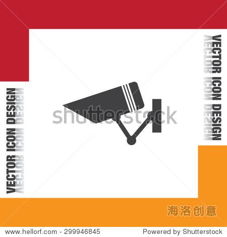 安全监控摄像头矢量图标