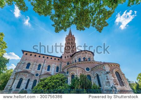 罗马式建筑风格的教堂的圣sernin,1080年和1120年之间图片