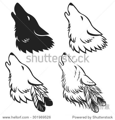 咆哮的狼的头 手绘矢量插图 可以用作纹身草图或标志设计吗 动物 野