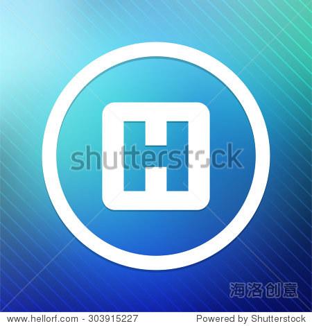 医院签署蓝色圆形按钮