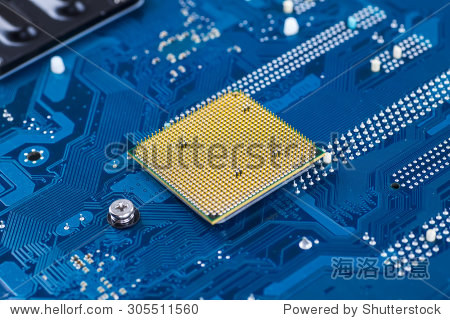 蓝色电子电路板
