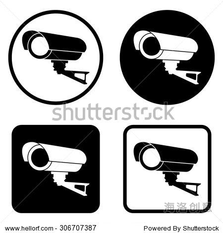 视频监控闭路电视摄像头——矢量图标