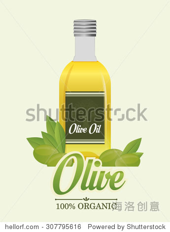 橄榄油数字设计,矢量图10 eps图形