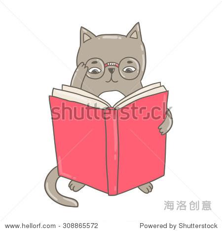 书 可爱的动物剪贴画 教育矢量插图 回到学校的形象 动物 野生生物,