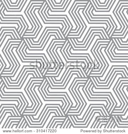 重复的几何瓷砖.线性条纹元素 - 背景/素材