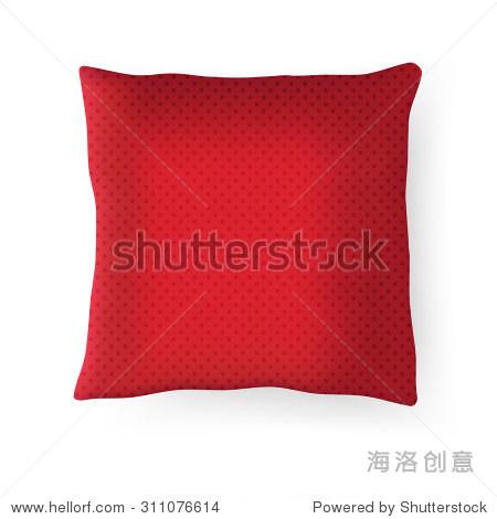 红场的枕头.矢量图