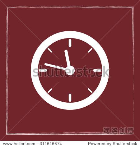 时钟图标,标志矢量图.平面设计风格