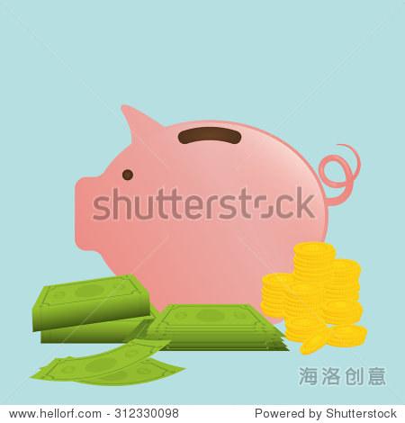 piggy design as saving money icon vector illustration 10 eps gra
