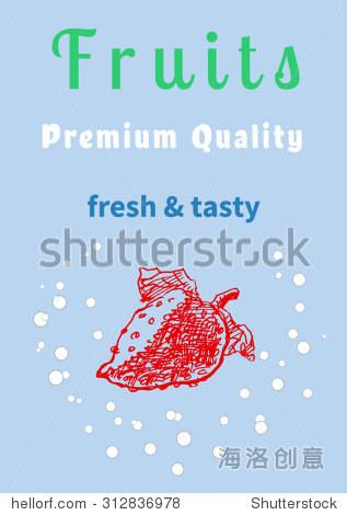 水果的海报 传单或模板与草莓和文本,在蚀刻复古漫画草图手绘风格,对食品广告设计 向量 背景 素材,食品及饮料 站酷海洛创意正版图片,视频,音乐素材交易平台 Shutterstock